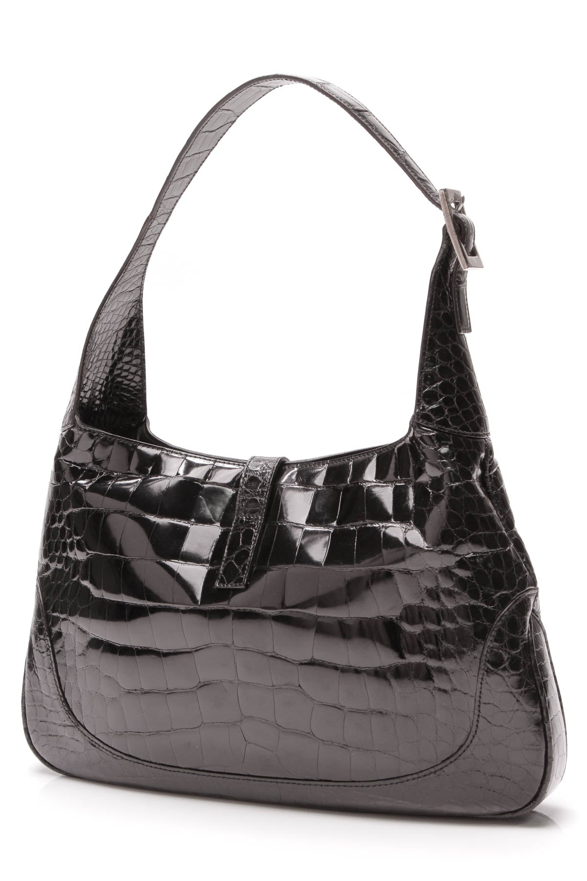 a13aa338b5b24c Gucci Crocodile Jackie Bag - Black – Couture USA