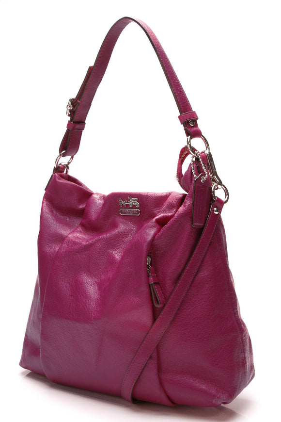 Coach Isabelle Shoulder Bag Magenta Madison Leather