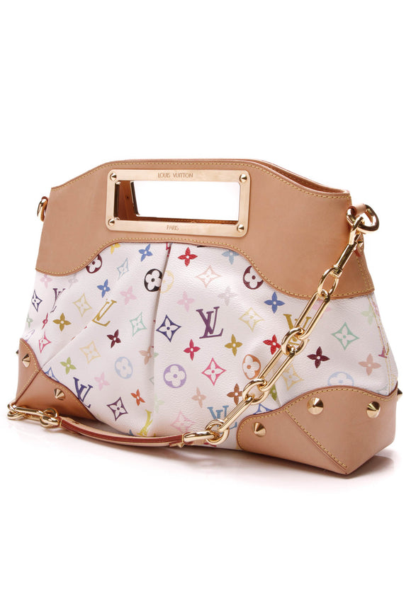 Louis Vuitton Judy MM Bag White Multicolore Monogram