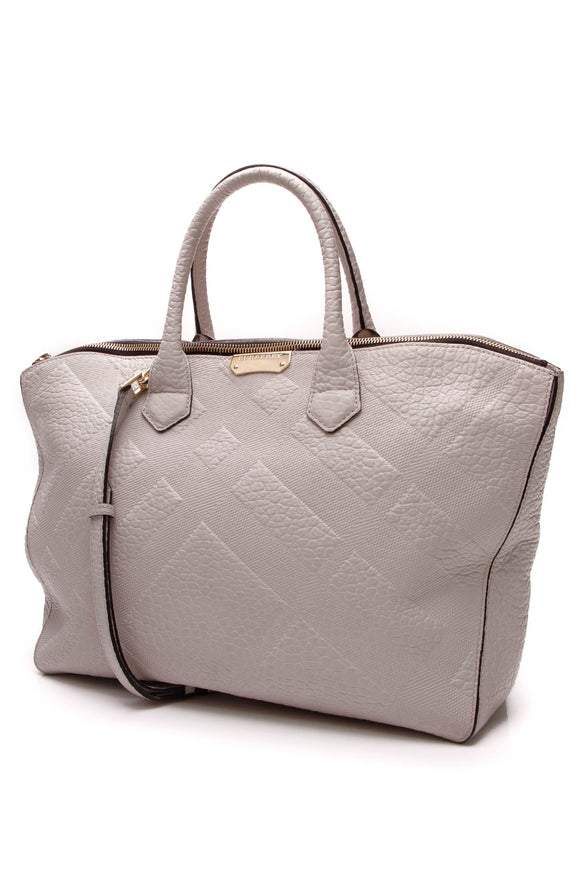 Burberry Medium Dewsbury Carryall Tote Bag Gray