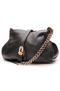 Burberry Turn-Lock Messenger Bag Black