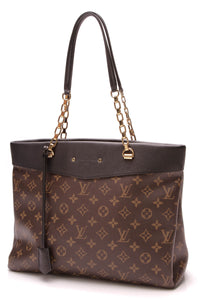 Louis Vuitton Pallas Shopper Tote Bag Black Monogram