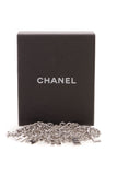Chanel Logo Curb Chain Belt Silver