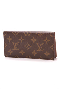 Louis Vuitton Checkbook Cover Monogram Brown