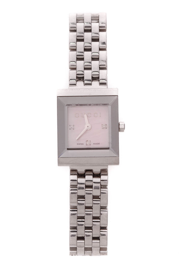 Gucci G Frame Mother of Pearl Watch Steel