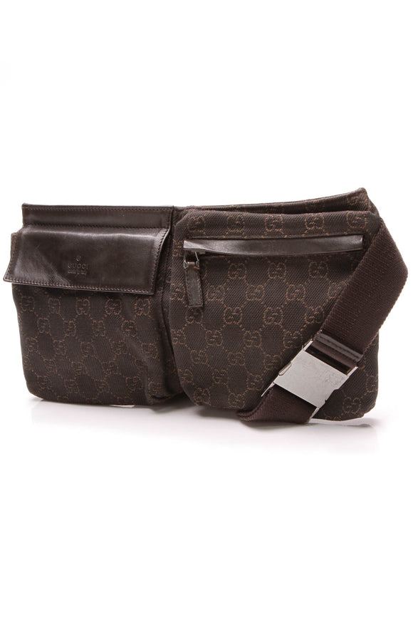 Gucci Belt Bag Brown Denim