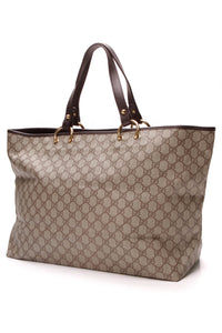 Gucci Large Tote Bag Supreme Canvas Beige