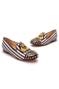 Christian Louboutin Intern Flat Loafers Navy White Size 38