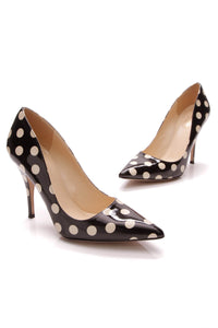 Kate Spade Licorice Polka Dot Pumps Black Size 7.5
