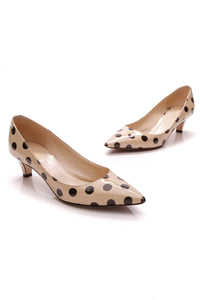 Kate Spade Licorice Polka Dot Low Pumps Nude Size 7