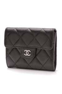 Chanel Flap Card Holder Wallet Black