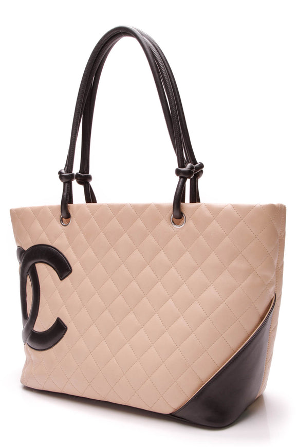 Chanel Large Cambon Tote Bag Beige