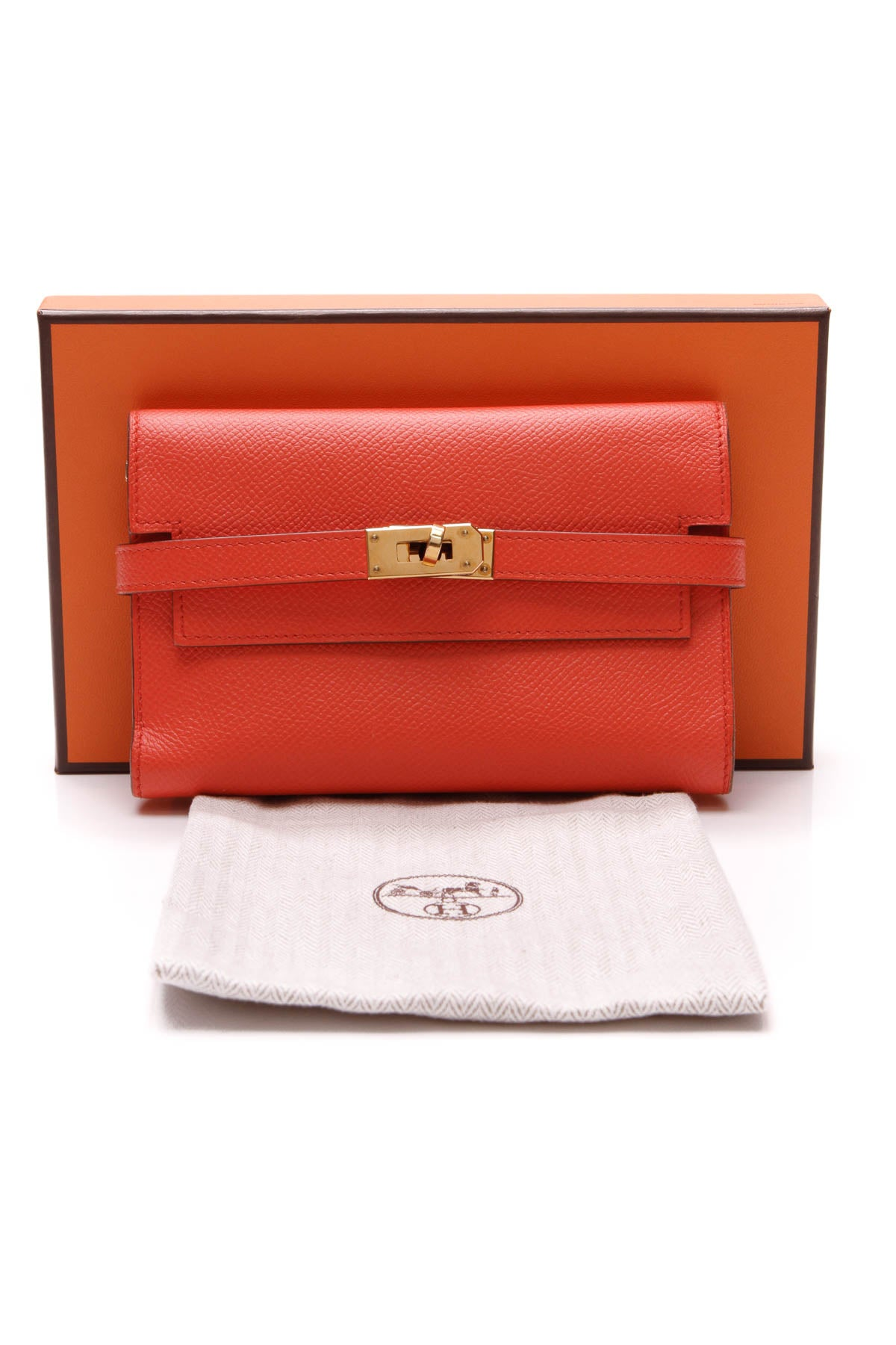 Kelly Wallet - Abricot Epsom