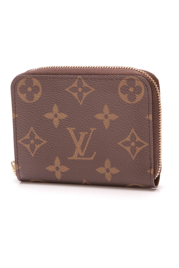 Louis Vuitton Zippy Coin Purse Wallet Monogram Brown