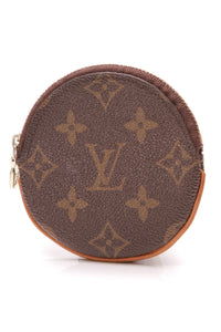 Louis Vuitton Round Coin Purse Monogram Brown
