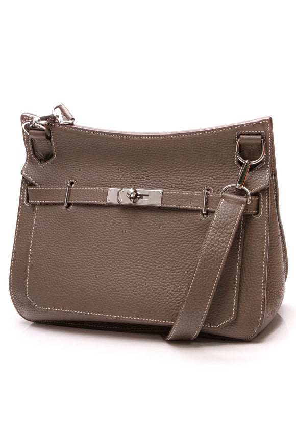 Hermes Jypsiere Bag 28 Etoupe Taurillon Clemence Taupe
