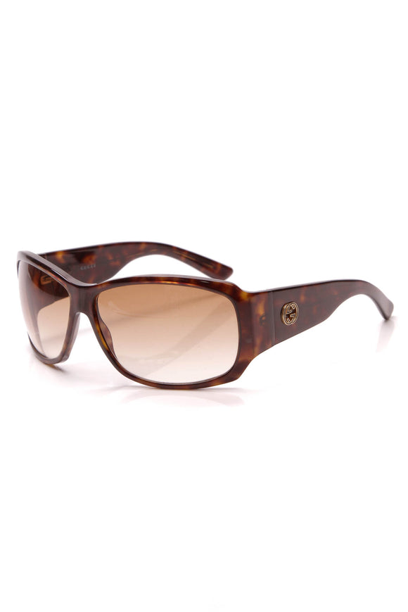 Gucci GG Rectangle Sunglasses GG2592 Tortoise Shell
