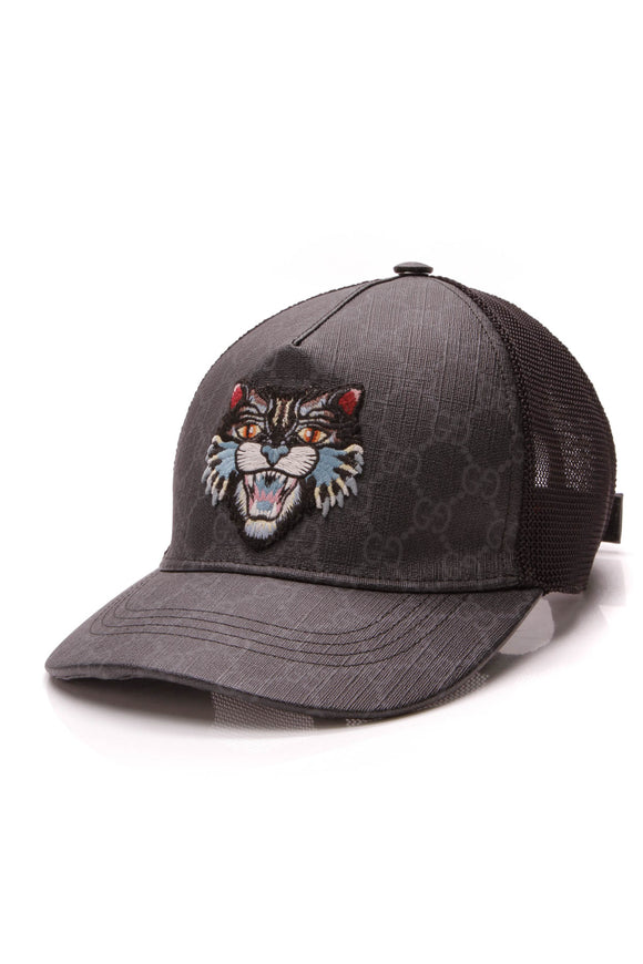Gucci Angry Cat Hat Black Supreme Medium