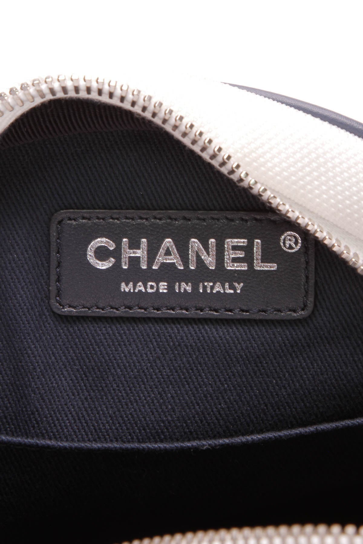 3f0aa8d2e0cfcc Chanel Round Airlines Messenger Bag Toile Rubber Black Blue White