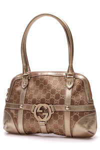 Gucci Interlocking G Small Shoulder Bag Bronze Gold