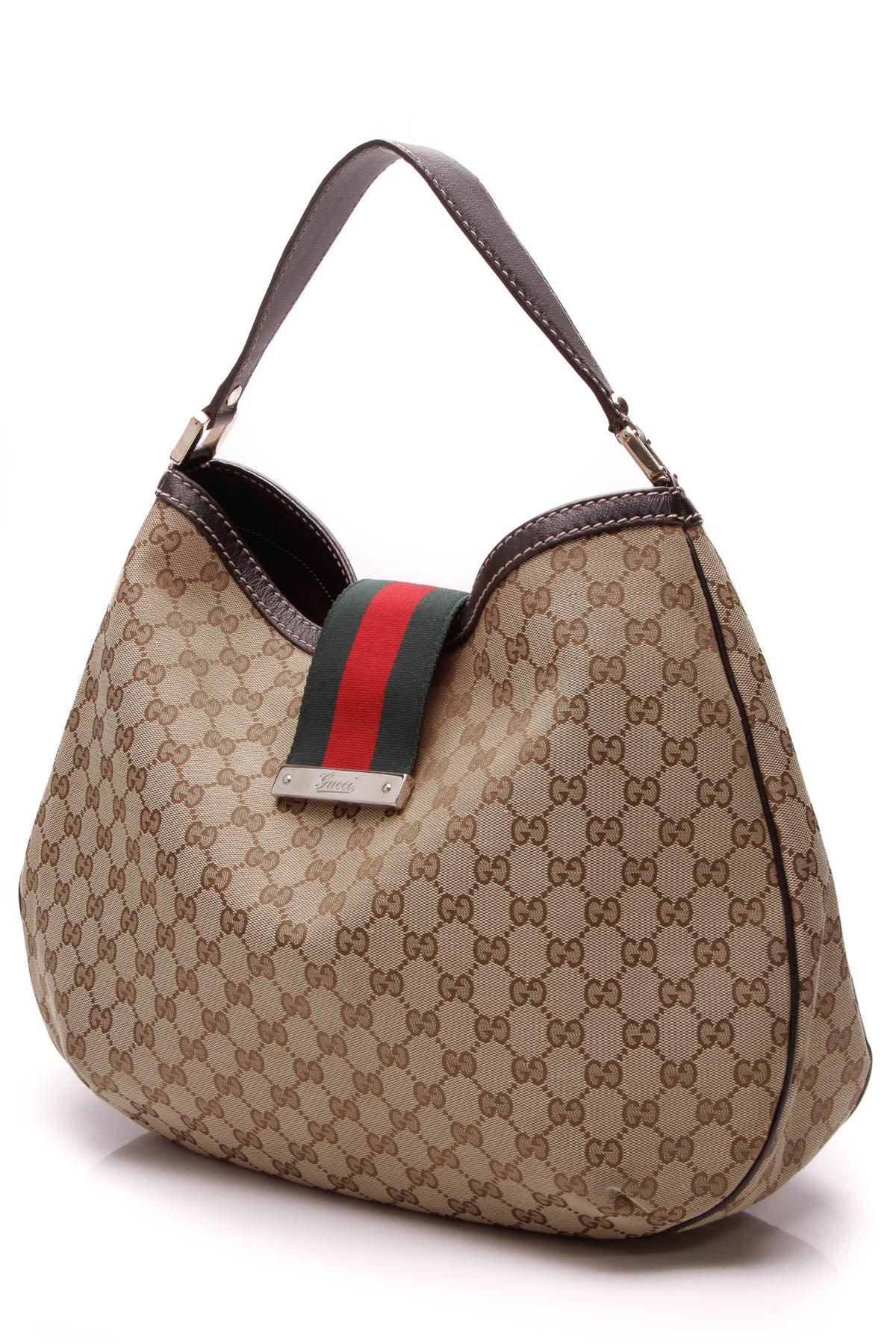 034db95ed7a Gucci New Ladies Web Large Hobo Bag - Signature Canvas – Couture USA