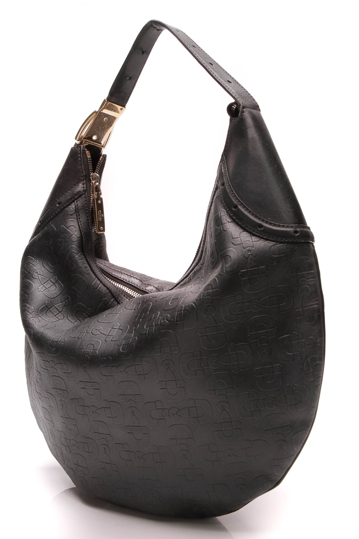 3cd5149d56f Gucci Glam Hobo Bag - Horsebit Embossed Leather – Couture USA