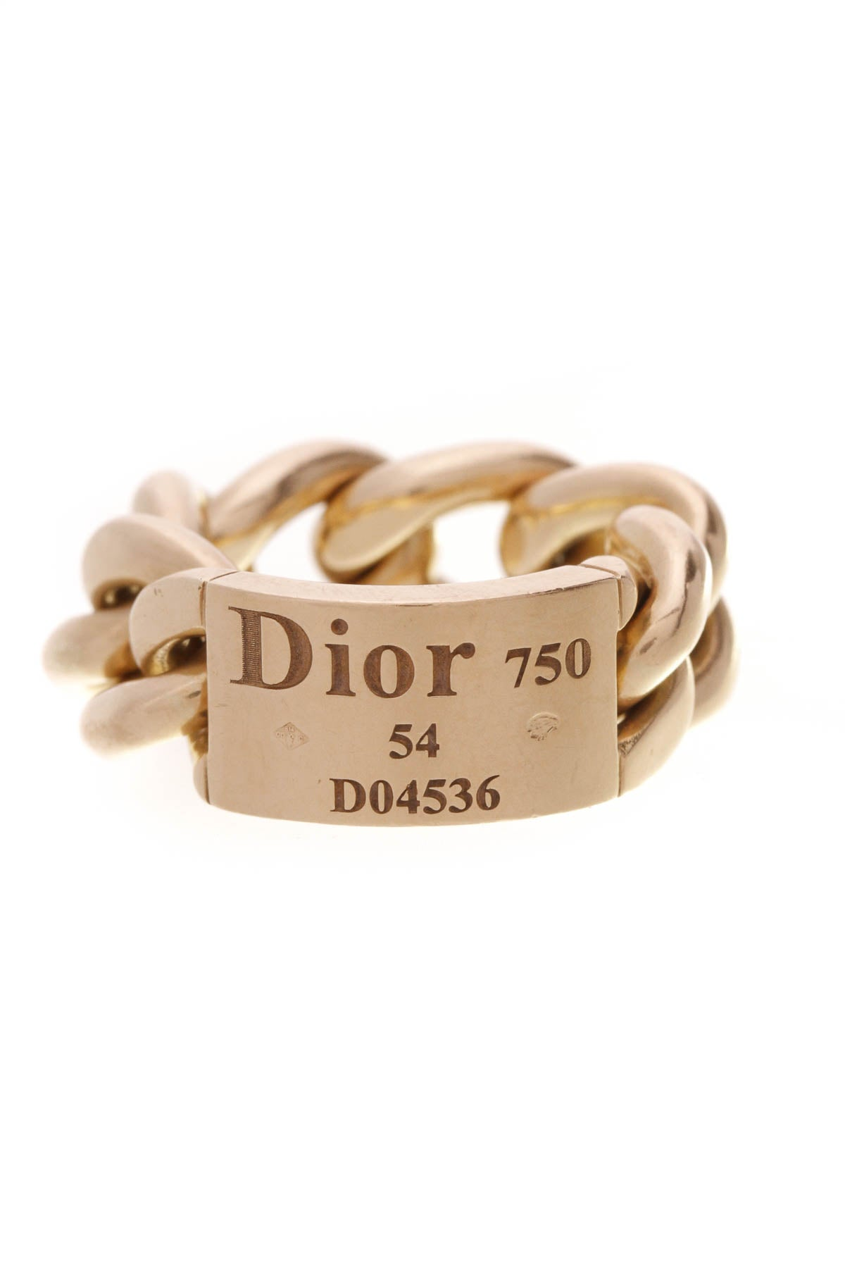 Christian Dior Gourmette Chain Ring - Gold Size 6 – Couture USA