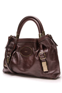Chloe Victoria Shoulder Bag Brown