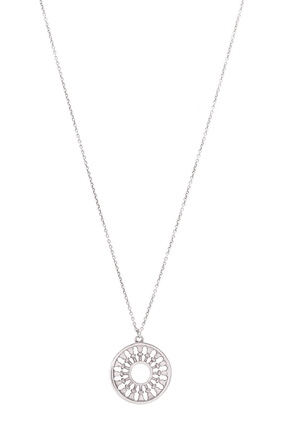 Tiffany & Co. Paloma Picasso Venezia Stella Medallion Necklace Silver