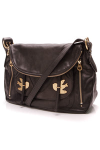Marc Jacobs Petal to the Metal Sasha Shoulder Bag Black