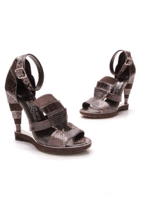 Salvatore Ferragamo F-Wedge Sandals Gray Size 9