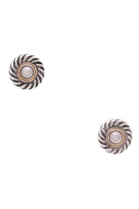 David Yurman Cable Stud Earrings Silver Gold