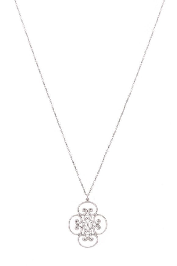 Tiffany & Co. Venezia Goldoni Quadruplo Necklace Silver