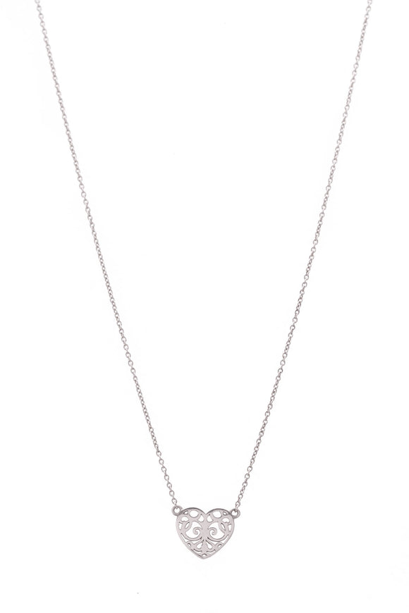 Tiffany & Co. Enchant Heart Necklace Silver