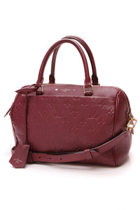 Louis Vuitton Empreinte Speedy Bandouliere 25 Bag Aurore Berry