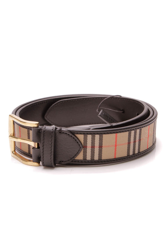 Burberry 1983 Check Belt Beige Size 44