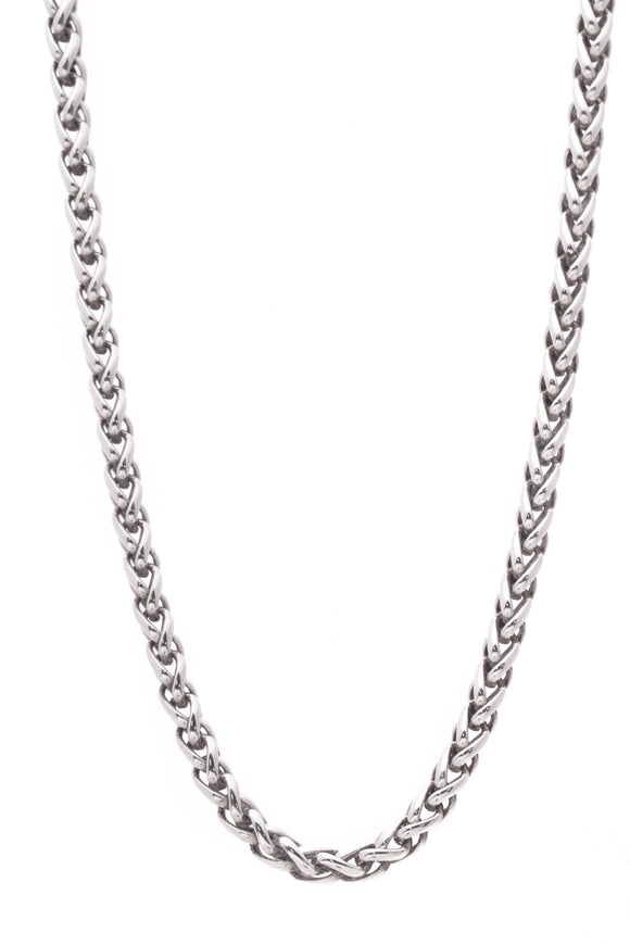 David Yurman Wheat Chain Necklace Silver Gold