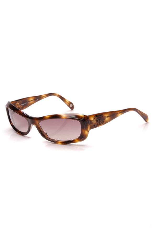 Chanel Crystal CC Sunglasses 5095 Tortoise
