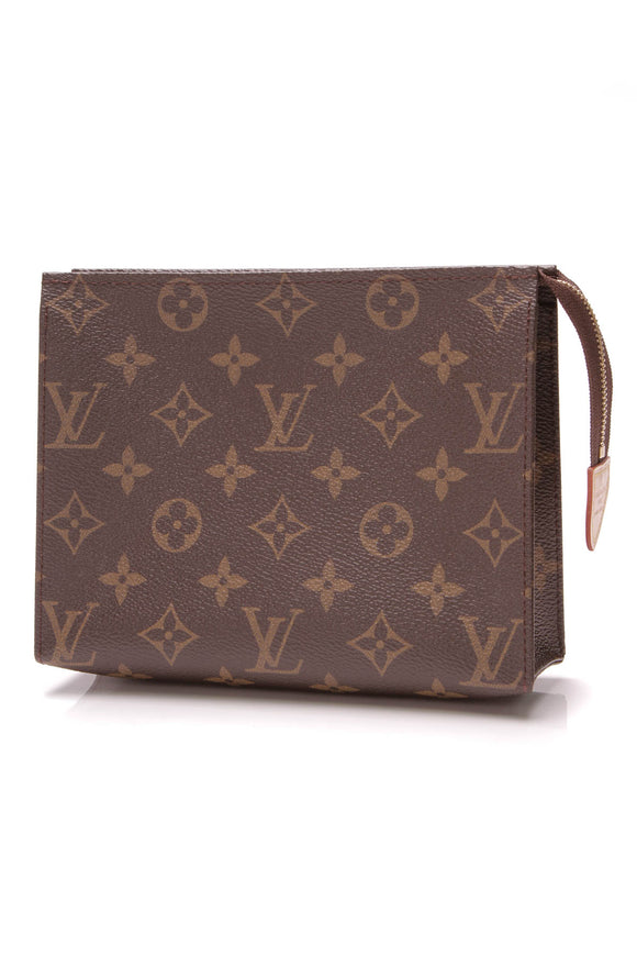 Louis Vuitton Toiletry Pouch 19 Monogram Brown