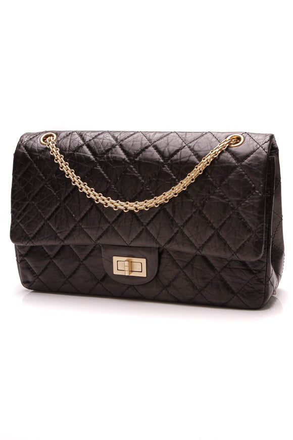 Chanel 2.55 Reissue Double Flap Bag 227 Black