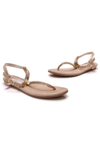 Jimmy Choo Nox Crystal Thong Sandals Gold Size 35.5