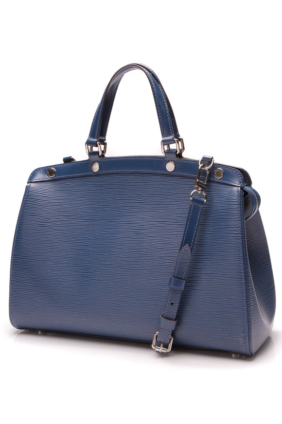 Louis Vuitton Epi Brea MM Bag Blue Celeste