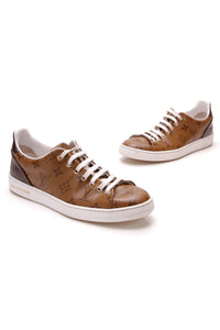 Louis Vuitton Frontrow Sneakers Reverse Monogram Size 38.5 Brown Tan