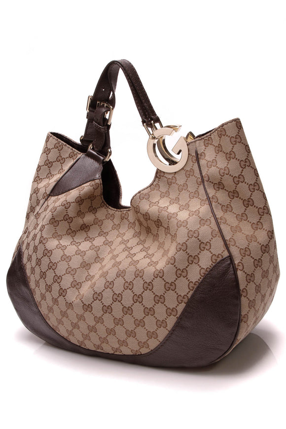 Gucci Charlotte Tote Bag Signature Canvas Beige
