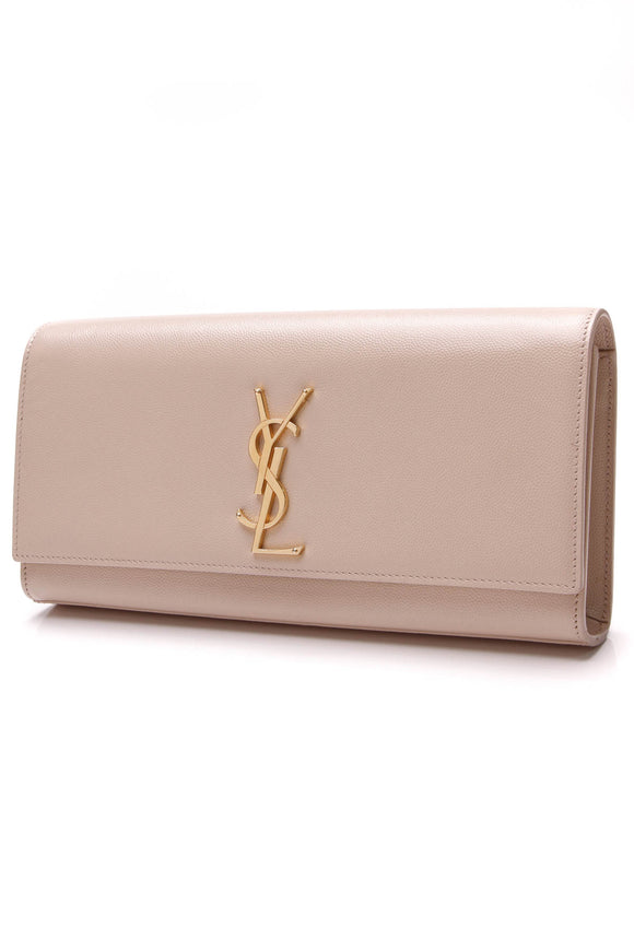 Yves Saint Laurent YSL Monogram Clutch Bag Nude