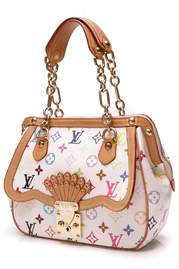 Louis Vuitton Gracie MM Bag White Multicolore Monogram