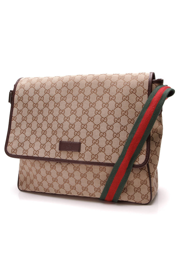 Gucci Medium Messenger Bag Signature Canvas Beige