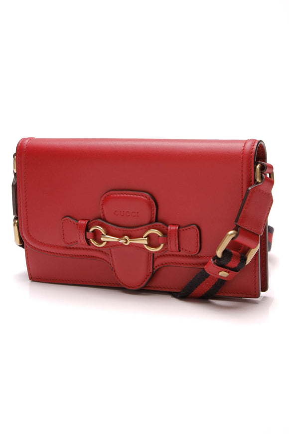 Gucci Lady Web Convertible Wallet Bag Red