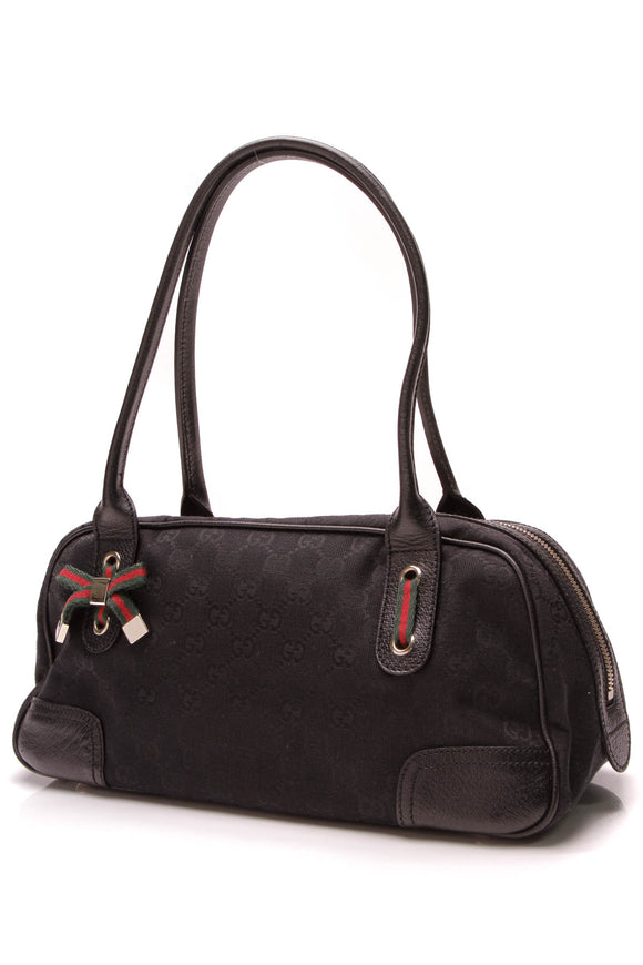 Gucci Princy Boston Bag Black Signature Canvas