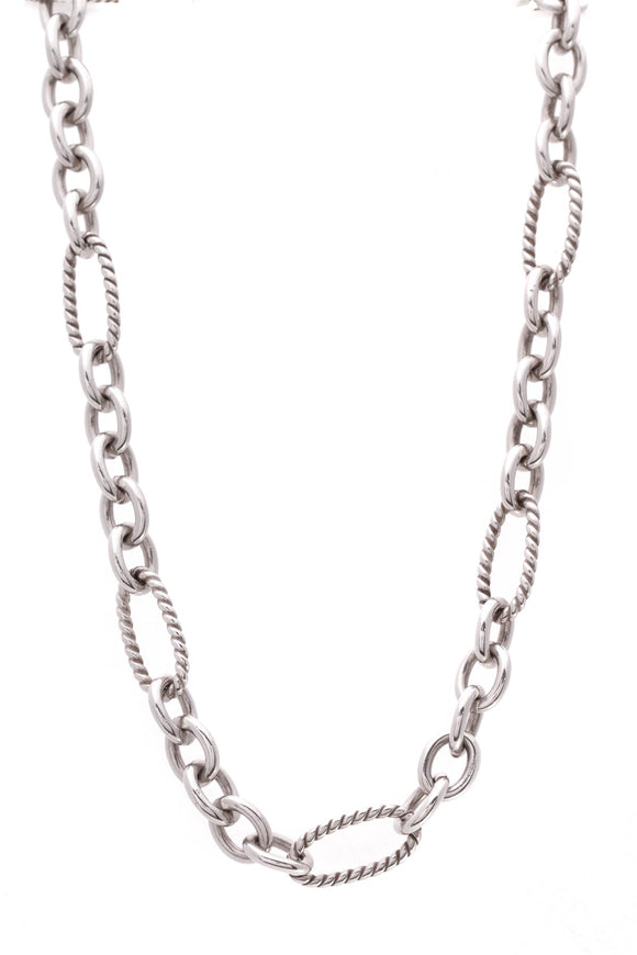 David Yurman Figaro Chain Necklace Silver